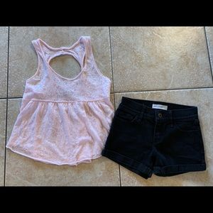 Girls Abercrombie Top & Shorts Outfit 10